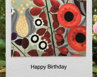 Shades of Red Greetings Card