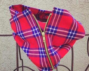 Uganda Infinity Zipper Scarf
