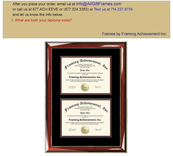 Double Degree Frame Dual Diploma Frames Two Certificate