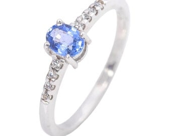 925 Silver Multy Saffire Ring with American diamonds