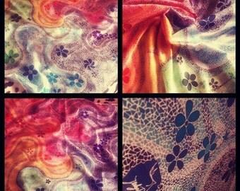 "Handmade scarf ""Mosaic"" (100% Silk)"
