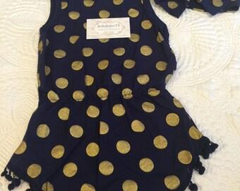 Polka Dot Romper Baby Girl