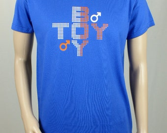 "T-shirt royal blue man ""TOY BOY"""