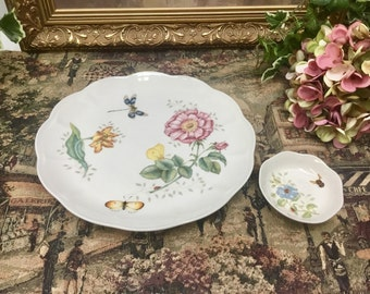 Lenox butterfly meadow dragonfly plates by Louise Le Luyer.