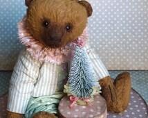 Artist Teddy Bears Collectible Teddy Bear Collector Plush Vintage Style Bear OOAK Antique Style Teddy Bear Sawdust Viscose Plush
