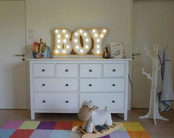 """Sign light """"Boy"""" Just a Spark"""