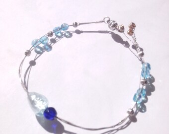 Bracelet cord guitar heart of the ocean-guitar strap rope heart of the ocean