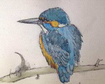 Kingfisher (Original Watercolor Painting)