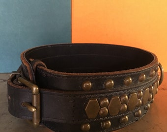 Early heavy leather dog collar