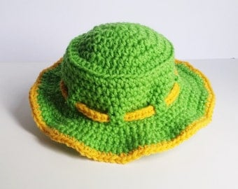 Spring Green and Yellow Bucket Hat