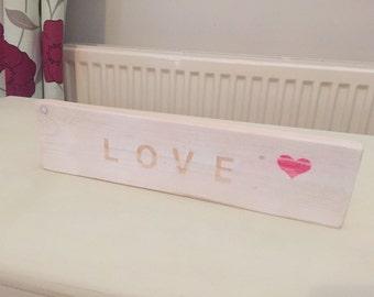 White love plaque