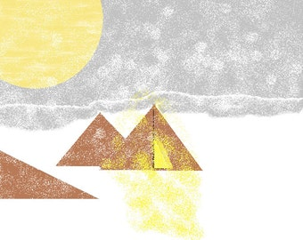 Tepees In The Snow(first listing ms paint print out)