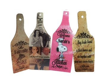 PERSONALIZED Wine and Cheese CUTTING BOARD with accessories