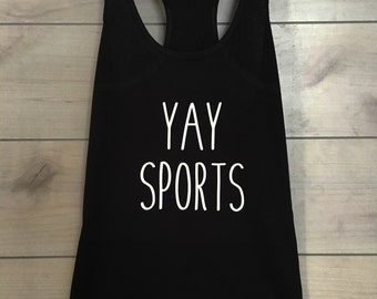 YAY SPORTS womens tee or tank
