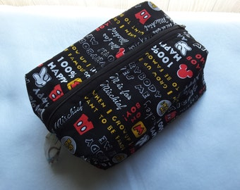 Mickey Mouse zippered pouch, Cosmetic Bag, Toiletry bag