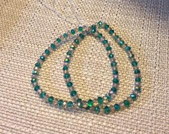 Turquoise Crystal Bracelet Set