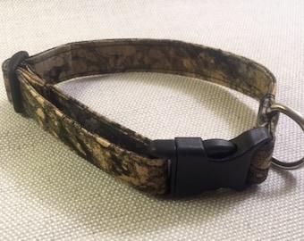 Black/Gold/Gray Marbleized Dog Collar