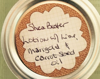 Natural Lotion:  Shea Butter with Lime, Marigold & Carrot Seed Oil