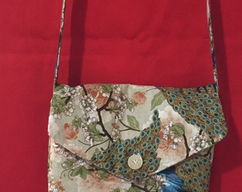 Reversable Otiental & Floral Shoulder Bag