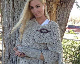 Fisherman's wool shawl