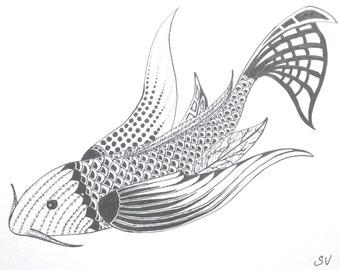 Butterfly Koi (Print)