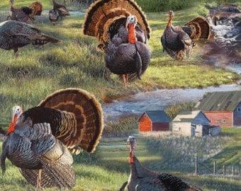 Wild Wings Wild Fancy Turkeys Fabric From Springs Creative