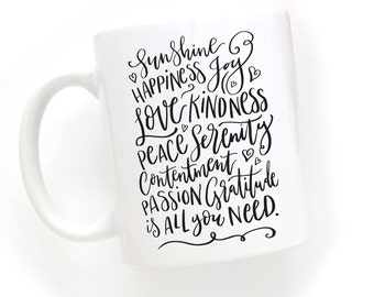 All you need..Handlettered Typography Design Mug