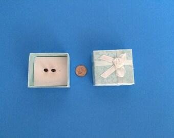 Sapphire Earrings; Sterling Silver; Handmade