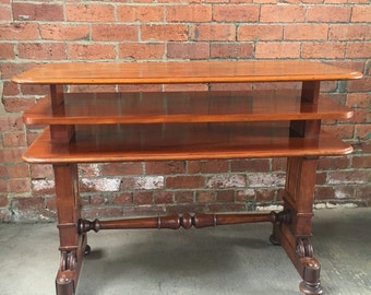 Antique Victorian Metamorphic Table in Solid Mahogany