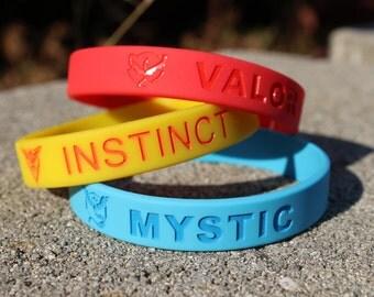 Top Quality Pokemon Go Wristbands (Valor, Mystic, Instinct)