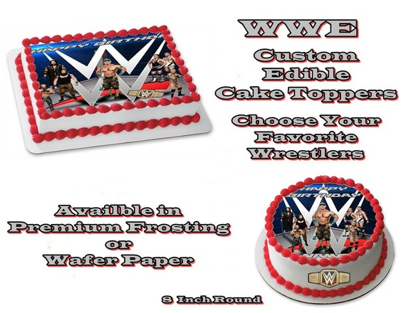 Edible Cake Images Wwe : WWE Wrestlers Inspired Edible Images Cake topper