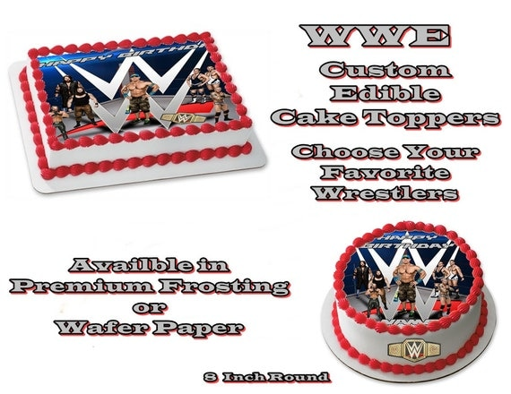WWE Wrestlers Inspired Edible Images Cake topper