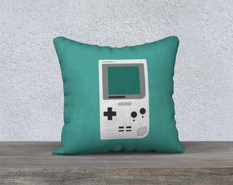 Pillow cover - Gameboy Pocket (Mint)