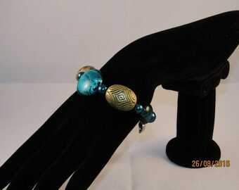 Statement blue lamp work bracelet