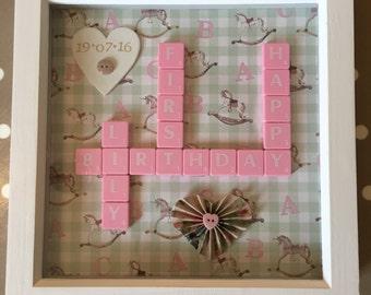 Bespoke Letterart handmade milestone birthday pictures