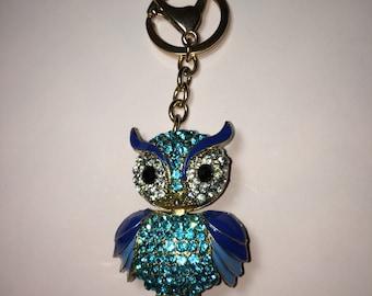 Diamond Owl key chain