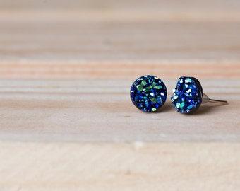 8mm Faux Druzy Earrings- MONICA