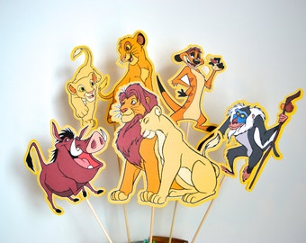 Disney Lion King Set of 5 Centerpiece Picks (Double-Sided)