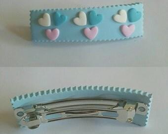 Polymer clay hair clips