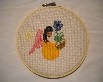 Angel handmade counting cross stitch