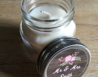 Set of 100, Mini Candle Wedding Favors with Iron Lid