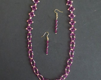 Handmade Necklace & Earring Set - Item #6-046