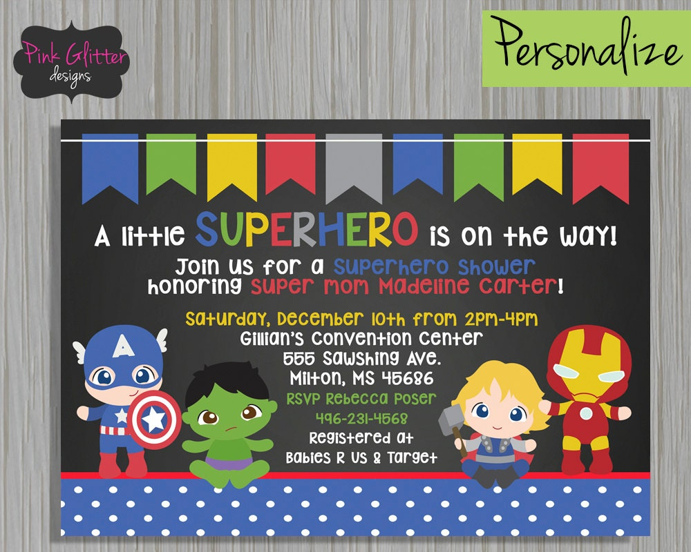 Superhero Shower Superhero Baby Shower Superhero Baby Shower