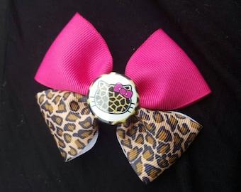 Hello Kitty Pink & Cheetha Bow