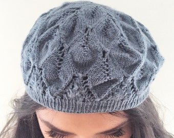 Hand-knit Hats:One Color