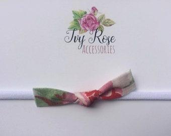 Cath Kidston Rosali bow skinny newborn baby infant nylon headband