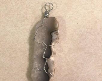Agate Slice Pendant