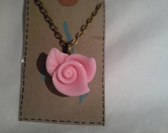 Large Rose Necklace