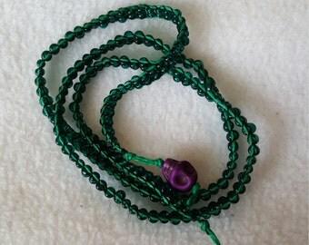Green bead wrap around bracelet