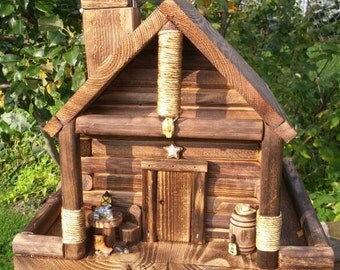Bird Feeder, Western log Cabin